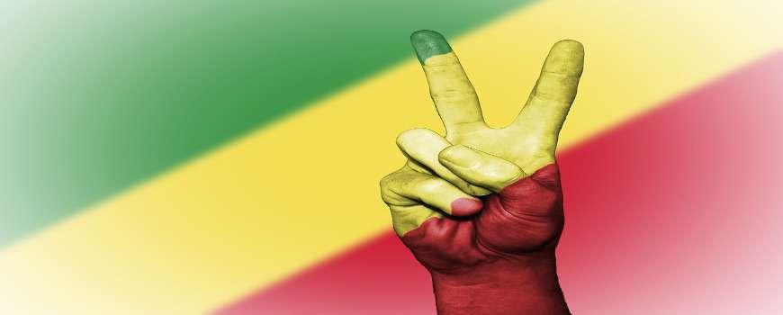 Visto Congo Brazzaville - Bandiera Pace