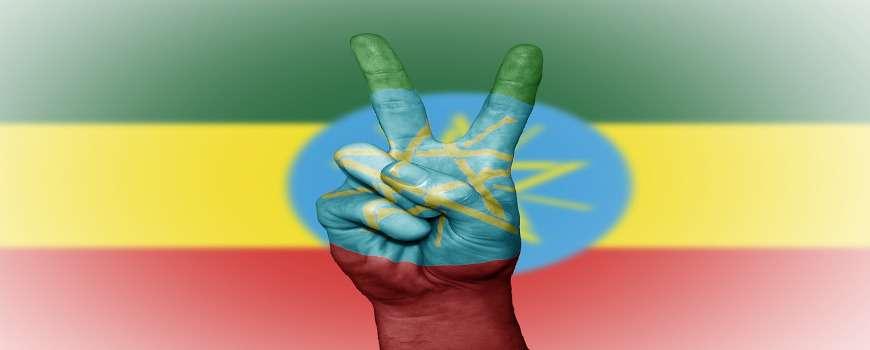 Visto Etiopia - Bandiera Pace