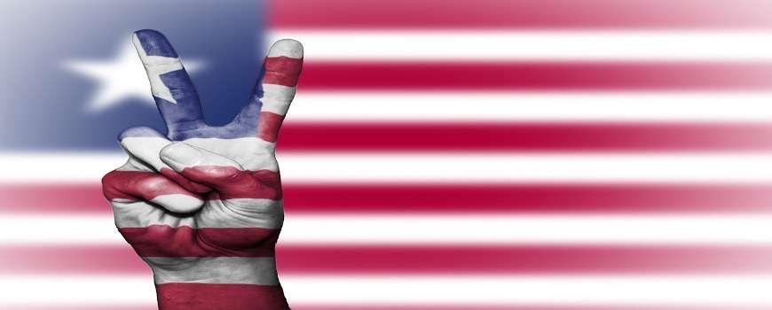 Visto Liberia - Bandiera Pace