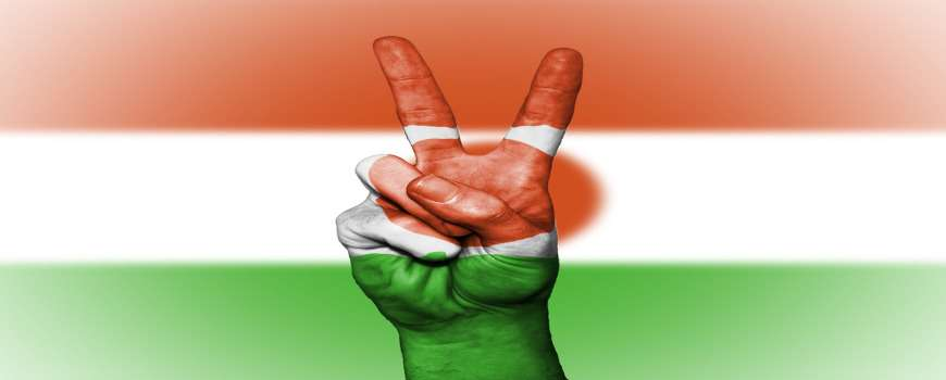 Visto Niger - Bandiera Pace