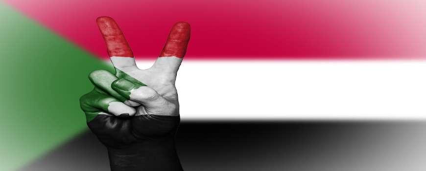 Visto Sudan - Bandiera Pace
