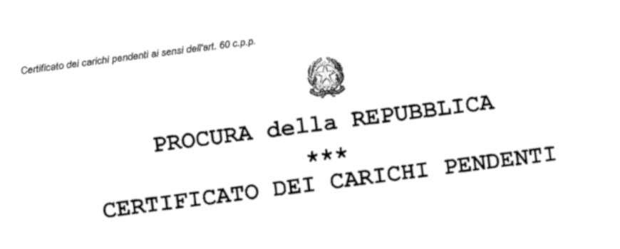 Certificato dei Carichi Pendenti